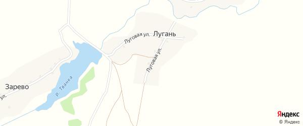Луговая улица на карте поселка Лугани с номерами домов
