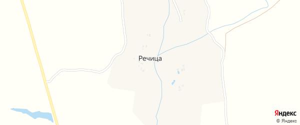 Заречная улица на карте села Речицы с номерами домов