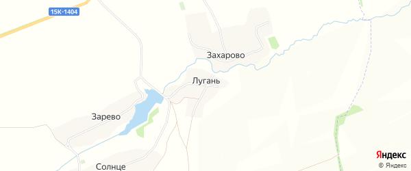 Карта поселка Лугани в Брянской области с улицами и номерами домов