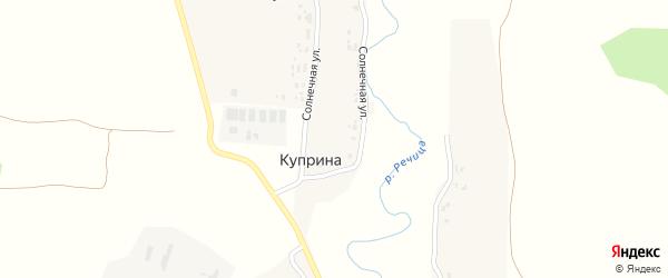 Солнечная улица на карте деревни Куприной с номерами домов