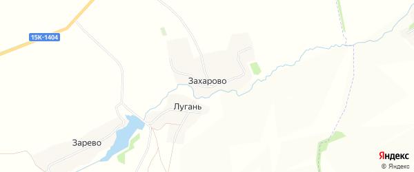 Карта деревни Захарово в Брянской области с улицами и номерами домов