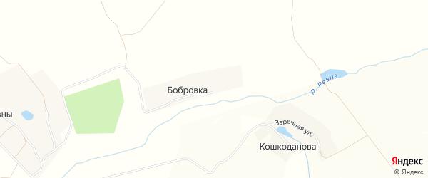 Карта деревни Бобровки в Брянской области с улицами и номерами домов