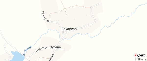 Полевая улица на карте деревни Захарово с номерами домов