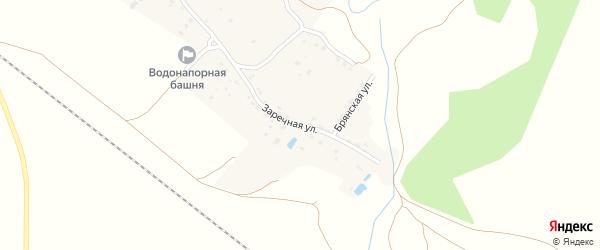 Заречная улица на карте деревни Мылинки с номерами домов
