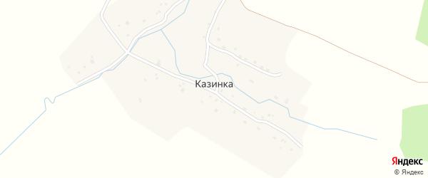 Садовая улица на карте деревни Казинки с номерами домов