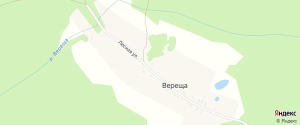 Лесная улица на карте поселка Русина с номерами домов