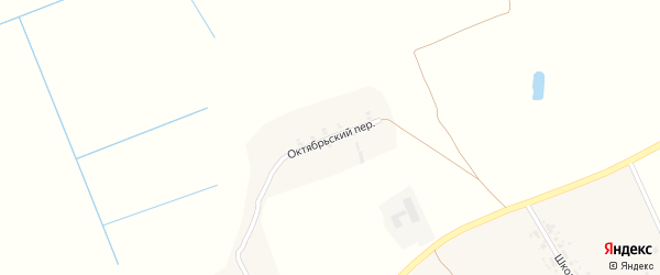 Октябрьский переулок на карте деревни Мокрого с номерами домов