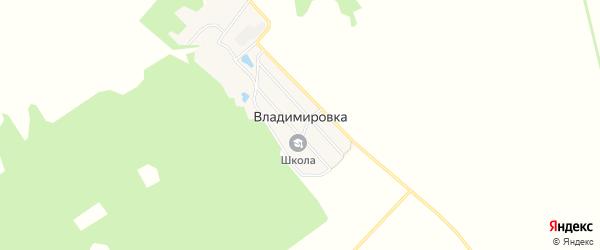 Карта поселка Владимировки в Брянской области с улицами и номерами домов
