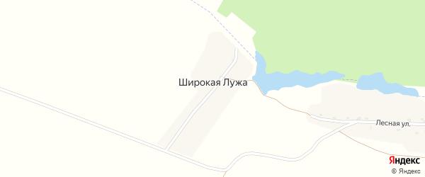 Речная улица на карте поселка Широкой Лужи с номерами домов