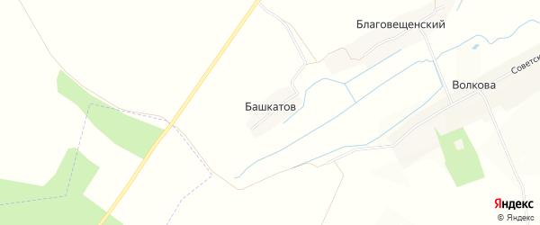 Карта поселка Башкатова в Брянской области с улицами и номерами домов