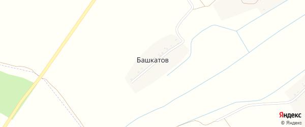 Рабочая улица на карте поселка Башкатова с номерами домов