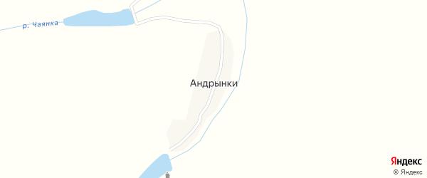 Партизанская улица на карте деревни Андрынки с номерами домов