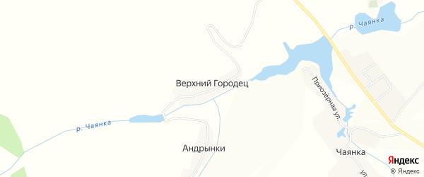 Карта деревни Верхнего Городца в Брянской области с улицами и номерами домов