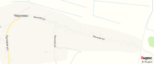Речная улица на карте деревни Чернево с номерами домов