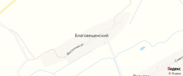 Восточная улица на карте Благовещенского поселка с номерами домов