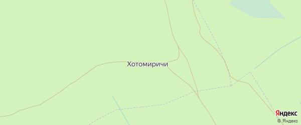 Лесная улица на карте поселка Хотомиричей с номерами домов