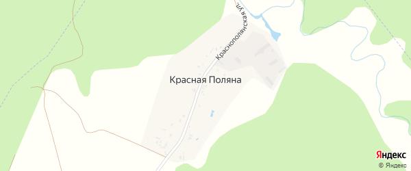 Краснополянская улица на карте поселка Красной Поляны с номерами домов