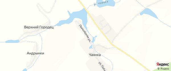 Карта села Чаянки в Брянской области с улицами и номерами домов
