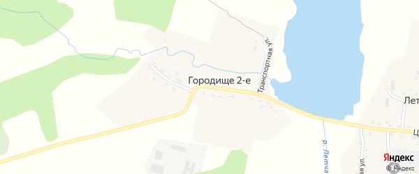 Транспортная улица на карте деревни Городища 2-е с номерами домов