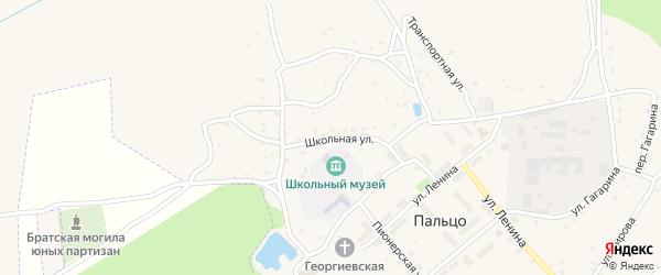 Школьная улица на карте поселка Пальца с номерами домов