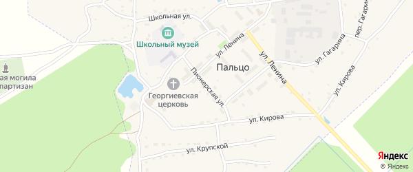 Пионерская улица на карте поселка Пальца с номерами домов