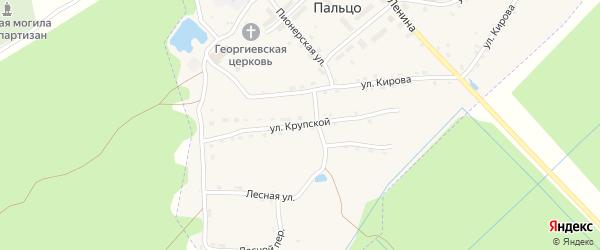 Улица Крупской на карте поселка Пальца с номерами домов
