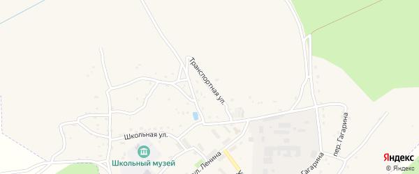 Транспортная улица на карте поселка Пальца с номерами домов