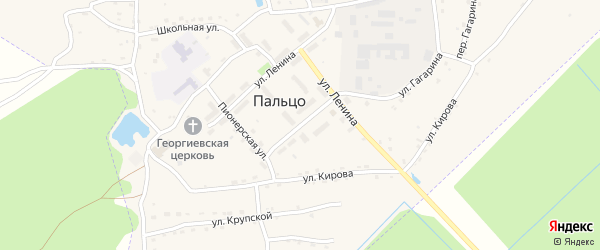 Молодежная улица на карте поселка Пальца с номерами домов