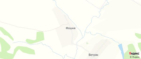 Карта деревни Фошни в Брянской области с улицами и номерами домов