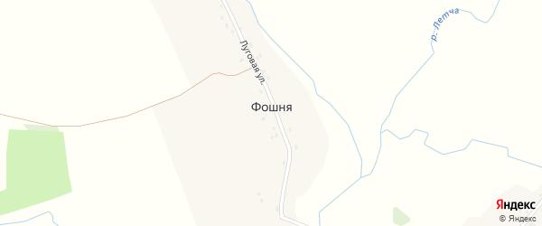 Луговая улица на карте деревни Фошни с номерами домов