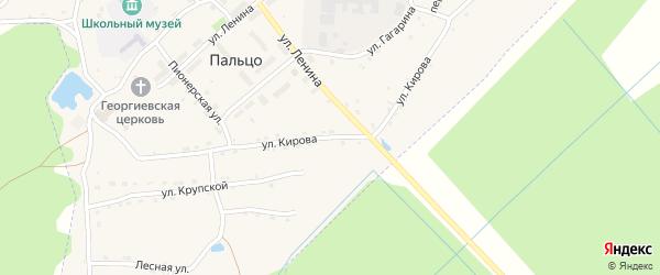 Улица Кирова на карте поселка Пальца с номерами домов
