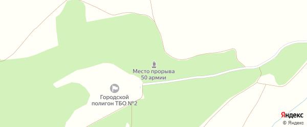 Садовый переулок на карте Дунаевского поселка с номерами домов