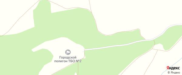 Зеленая улица на карте деревни Власовки с номерами домов