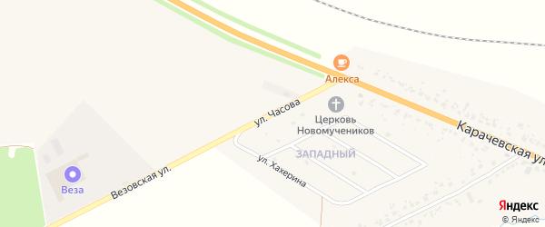Улица Часова на карте Карачева с номерами домов