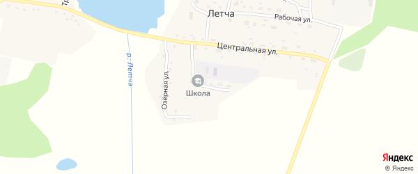 Школьный переулок на карте поселка Летчи с номерами домов