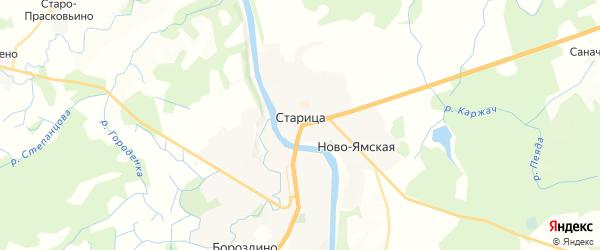 Карта Старицы с районами, улицами и номерами домов