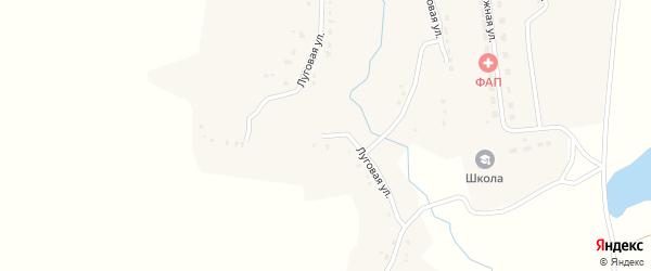 Луговая улица на карте села Веребска с номерами домов