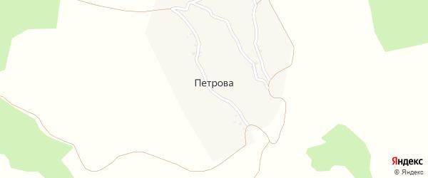 Советская улица на карте села Петрова с номерами домов
