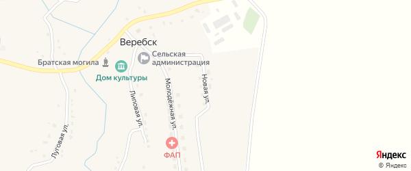 Новая улица на карте села Веребска с номерами домов