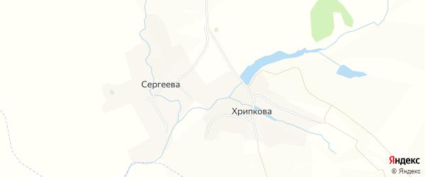 Карта деревни Сергеева в Брянской области с улицами и номерами домов