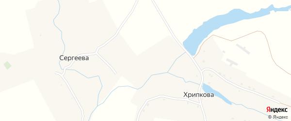 Заречная улица на карте деревни Сергеева с номерами домов