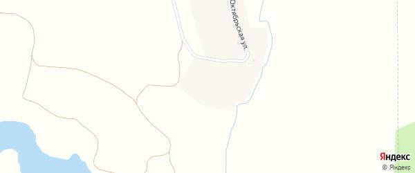 Октябрьская улица на карте деревни Нечаева с номерами домов