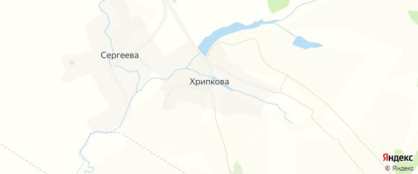 Карта деревни Хрипкова в Брянской области с улицами и номерами домов