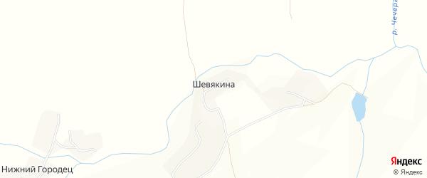Карта деревни Шевякиной в Брянской области с улицами и номерами домов