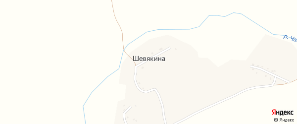 Горная улица на карте деревни Шевякиной с номерами домов