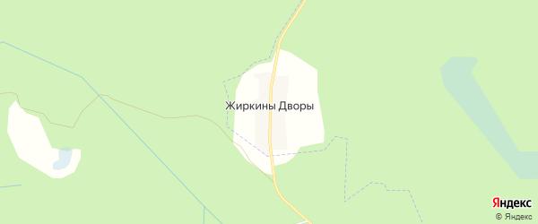 Карта деревни Жиркины Дворы в Брянской области с улицами и номерами домов