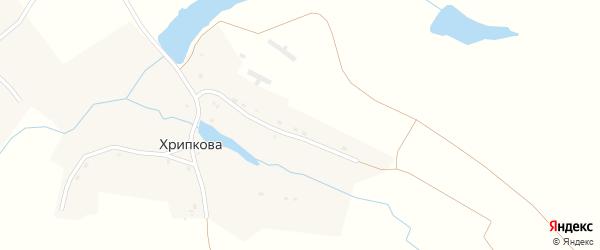 Приозерная улица на карте деревни Хрипкова с номерами домов
