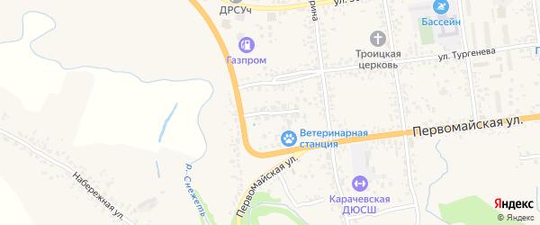 Переулок Автомобилистов на карте Карачева с номерами домов