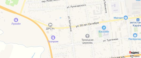 Улица Халтурина на карте Карачева с номерами домов