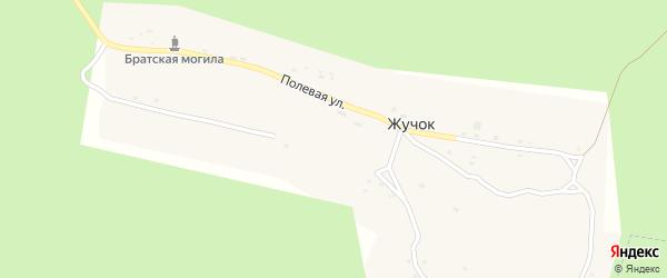 Полевая улица на карте поселка Жучка с номерами домов
